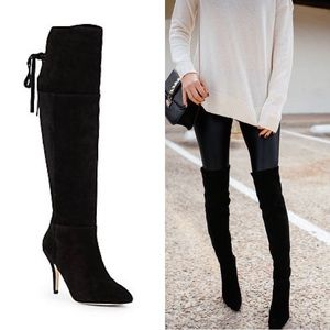 SAKS FIFTH AVENUE Renee Suede Over the Knee Boots